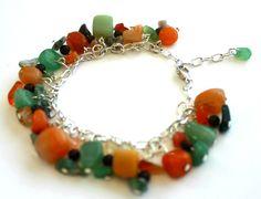 Natural Stones Bracelet by Franca&Nen on Etsy  $20.00 #stonejewelry #bracelet #stonebracelet