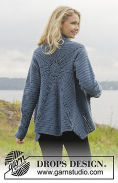 Winter Solstice jacket...and there's a free pattern for this fantastic sweater!!