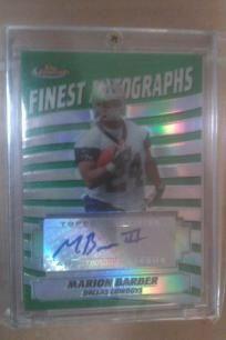 Topps Finest Autographs 2005 NFL Marion Barber Dallas Cowboys VG-MNT card