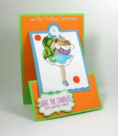 My hobby My Art: Reto # 36 LAC tarjeta con colores neon