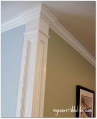 Add trim work at the corner of the room to create a column effect.