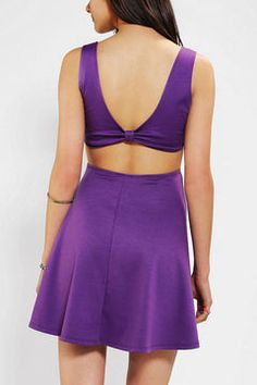 http://www.shopstyle.com: Pins And Needles Knit Bow-Back Skater Dress