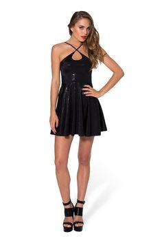 Geometric Floral Black Reversible Straps Dress by Black Milk Clothing $80AUD