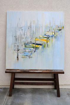 """Foggy Harbor"" 48 x 48"
