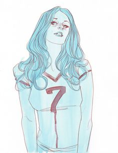 Jill  ARTIST: Phil Noto  TITLE: Jill  SIZE: 11 × 14  MEDIUM: Gouache and Pencil on Paper