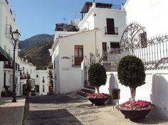 Lovely small white village called Frigiliana.   It is located in the mountain range, 10 minutes from Nerja, Malaga (Andalusia, Spain)