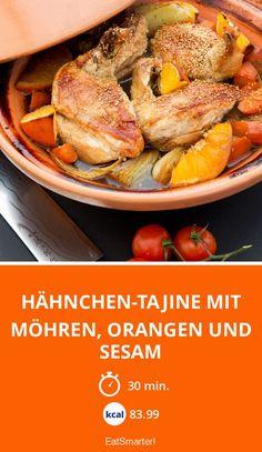 Hähnchen-Tajine mit Möhren, Orangen und Sesam - smarter - Zeit: 30 Min. | eatsmarter.de