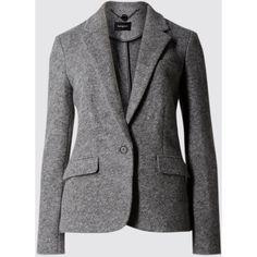 New Wool Blend Bouclé Blazer with Buttonsafe™ Tweed Jacket, Gray Jacket, Gray Blazer, Line Jackets, Jacket Buttons, Wool Blend, Long Sleeve, Outerwear Jackets, Outfits