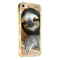 Cute Sloth iPhone 5/5S Case Cover Diamond Crystal Rhinestone Bling Hard Gold Case Cover Protector PAZATO http://www.amazon.com/dp/B00NSDJHC8/ref=cm_sw_r_pi_dp_Tqziub0HJFXW1