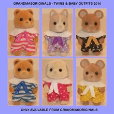 Sylvanian Families clothes  1 NEW OUTFIT for STANDING BABIES - ebay