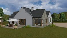 mod052 Dormer Bungalow, Modern Bungalow House, Bungalow Exterior, Modern House Design, House Extension Plans, 3 Bedroom Floor Plan, Home Structure, House Extensions, Dream House Plans