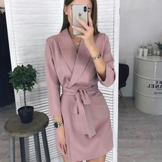 Elegant casual dress - SKU Women Vintage Sashes Aline Party Mini Dress Long Sleeve Notched Collar Solid Casual Elegant Dress 2019 Winter New Fashion Dress – Elegant casual dress Elegant Summer Dresses, Winter Dresses, Casual Dresses, Fashion Dresses, Office Dresses, Dress Winter, Dresses Dresses, Mini Dresses, Formal Dresses