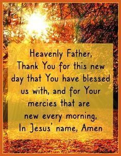 New Every Morning, Good Morning, Latina, Thy Kingdom Come, Thy Will Be Done, Our Daily Bread, Ever And Ever, Heavenly Father, Names Of Jesus