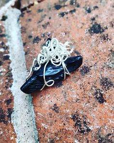 Hand Carved Wire Wrapped Obsidian Wolf Head Pendant- Follow me on Instagram: Rock Candy Pendants ♡♡♡ #rockcandypendants