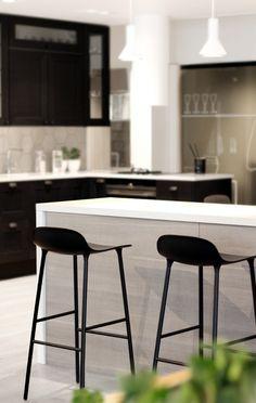 2 x ILO: PÄIVÄ PUUSTELLISSA. Musta valkoinen keittiö kök