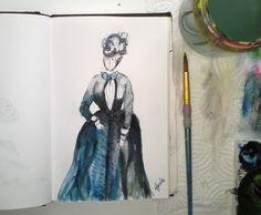 costume studies sketchbook Cindy M.Bell