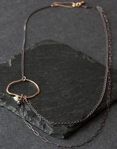 Asymmetrical Raw Diamond Necklace