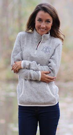 Monogrammed Pullover Jacket | Monogram | Pinterest | Jackets ...