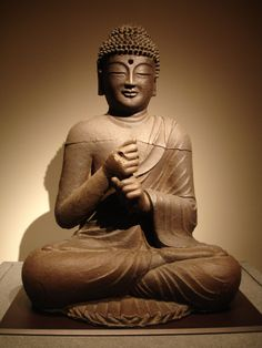 Bronze Buddha statue from the Unified Silla period at the National Museum of Korea.