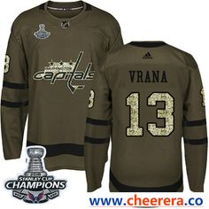 Adidas Washington Capitals  13 Jakub Vrana Green Salute to Service Stanley  Cup Final Champions Stitched 0d32063c3