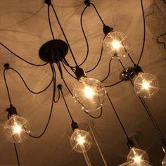 Lámpara retro industrial: Precio 6 casquillos: 65€ Precio 8 casquillos: 62€ (bombillas no incluidas)