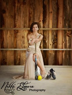 Softball Prom photography ideas