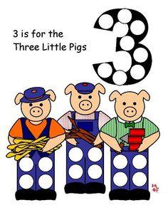 Three Little Pigs Dot Activity