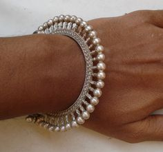 vintage antique tribal old silver bangle bracelet traditional jewelry india