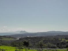Africa, Gibraltar, Alcaidesa and Sotogrande, Costa del Sol, Spain from Manilva countryside, Spain