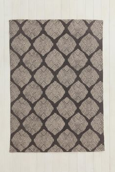 Magical Thinking Diamond Tile Rug in Charcoal 8x10 $200