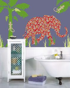 Mabuza the Elephant Peel & Stick Wall Appliques