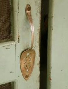 Door or cupboard handle with pie server.... awesome