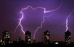 An lighting storm during the early hours of August 7 in south London Picture: PA