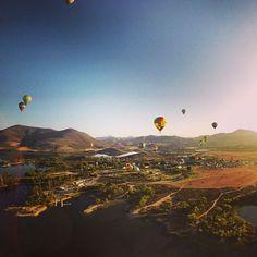 Sunrise balloon flight in Temecula #americanisland
