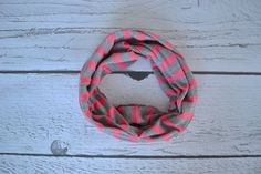 Pink and Gray Stripe Toddler and Child Infinity Scarf
