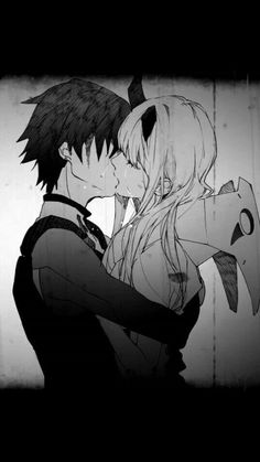 Hiro and Zero Two Couple Manga, Anime Love Couple, Cute Anime Couples, Anime Lindo, Anime Kiss, Estilo Anime, Zero Two, Darling In The Franxx, Aesthetic Anime
