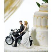Bride and Groom Motorcycle Get away Wedding cake topper. We aim to provide you with the latest cutting-edge and most popular cake supplies to create your master piece. My Dream Cake. Wedding Groom, Bride Groom, Wedding Favors, Wedding Decorations, Wedding Ideas, Motorcycle Cake, Motorcycle Wedding, Motorcycle Fashion, Kids Motorcycle