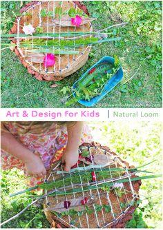 Ein Natur-Webrahmen aus einer Baumscheibe! Tolle DIY-Idee zum Basteln mit Naturmaterial, auch schon für kleinere Kinder gut geeignet,  Tolle Anleitung!