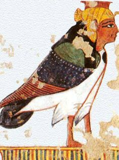 The hyroglyph that represents 'Ba' is a man's face with a birds body to represent their seperate existence.