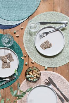 A beautifully set table brings joy to all guests, Clara believes // Place mats, dia. 38 cm, available in eight colours. Price per item DKK 8,80 / ISK 219,00 / SEK 12,60 / NOK 12,80 / EUR 1,24 / GBP 1,22
