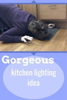 Kitchen Lighting This is actually brilliant! I have been bugging Hubby to do this for a year! Looks like I can do it myself: Under-Cabinet Rope Lighting (Pinned in partnership with Hometalk) - This is actually brilliant! Under Cabinet Lighting, Kitchen Lighting, Home Design, Design Ideas, Handmade Home Decor, Diy Home Decor, Kitchen Cabinet Crown Molding, Rolling Pantry, Diy Concrete Counter