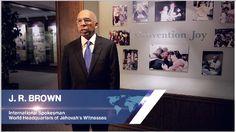JW Brown, International Spokesman,  World Headquarters of Jehovah's Witnesses