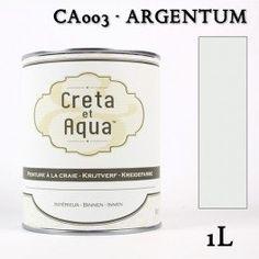Krijtverf Creta et Aqua 1 Liter Argentum Licht Grijs - Verven zonder te schuren.