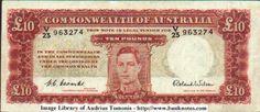 old ten pounds banknote Australia