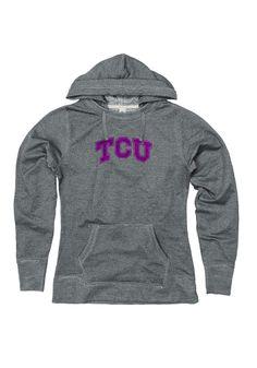 TCU Grey Dorm Room Hoodies with Glitter