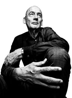"""""""Rem"""" Koolhaas - Dutch architect, architectural theorist, urbanist and Professor in Practice of Architecture and Urban Design at the Graduate School of Design at Harvard University. Business Portrait, Black And White Portraits, Black And White Photography, Rem Koolhaas, Portrait Photography Men, Poses References, Dynamic Poses, Famous Architects, Body Poses"""