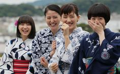 Umimachi Diary' 海街diary Promotion Event Photos and Images Go To Movies, Drama Movies, Movies And Tv Shows, Our Little Sister, Little Sisters, Kentaro Sakaguchi, Go To The Cinema, Beautiful Japanese Girl, Live Action Movie