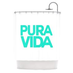 "Kess InHouse Geordanna Cordero-Fields ""Turquoise Pura Vida"" Blue White Shower Curtain"