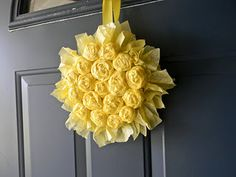 crepe paper flower wreath