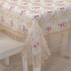 Home decor luxury dinner table cloth, round rose embroidery lace nappe table covers, Chinese style table runner (LR181084). Yesterday's price: US $12.99 (10.81 EUR). Today's price: US $10.97 (9.62 EUR). Discount: 39%.